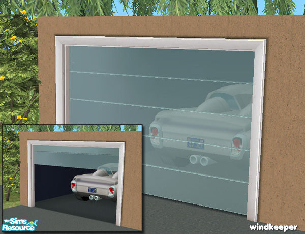 Windkeeper 39 s glass garage door mesh for Sims 4 garage