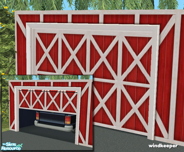 Windkeeper S Flat Garage Door Barn Red