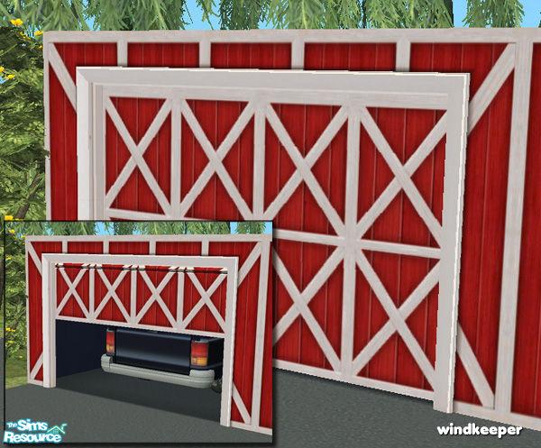 Windkeeper S Flat Garage Door Barn Red