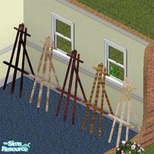 Sims 1 — Easel Set by SeanzShySweetie — Includes: Easels (5)
