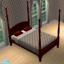 Seasons 4 poster bed frame - red