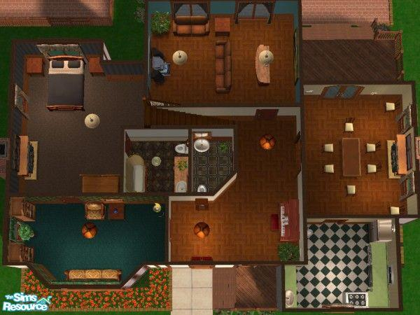 Crazysimz 39 s pleasant family home makeover - Sims 2 downloads mobel ...