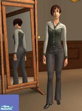 Sims 2 — YA High-Waist Black Denim Jeans by heijke — These jeans are similar to my FA high-waist jeans but these are made