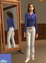 Sims 2 — Extra-Length Blue Shirt by heijke — I have lengthened the maxis blue shirt. It goes with just about anything