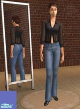Sims 2 — FA High-Waist Fade Blue Denim Jeans by heijke — Another pair of high waist denim jeans. As you can see this pair