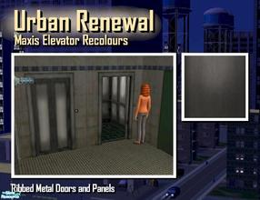 Sims 2 — Elevator ribbed steel door panel by Cyclonesue — This is the panel (not the metal trim) of the elevator in