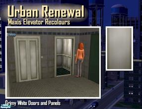 Sims 2 — Elevator grimy white door panel by Cyclonesue — This is the panel (not the metal trim) of the elevator in grimy