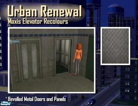 Sims 2 — Elevator bevelled metal door panels by Cyclonesue — This is the panel (not the metal trim) of the elevator in