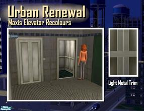 Sims 2 — Elevator light metal trim by Cyclonesue — This is the trim only (not the panel decor). Use this with your