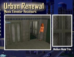 Sims 2 — Elevator medium metal trim by Cyclonesue — This is the trim only (not the panel decor). Use this with your grimy