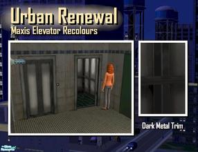Sims 2 — Elevator dark metal trim by Cyclonesue — This is the trim only (not the panel decor). Use this with your darker