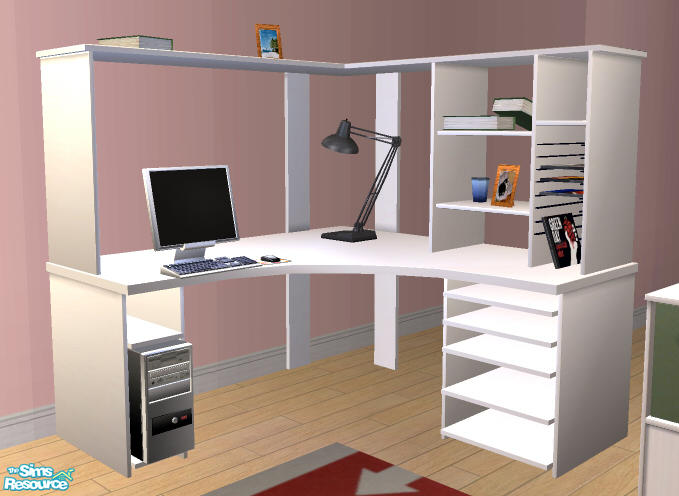Ogula S White Willow Corner Desk