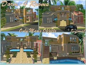 Sims 2 — Tgm-Lot-56 (Dorm-4 Rooms) by TugmeL — Dorm 4 Doublebeds Room and all rooms mini Bathroom/Kitchen!.. No Custom