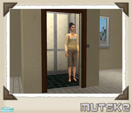 Sims 2 — Elevator recolor  06 by Mutske — Set of elevator recolors, in matching Maxis Wallpaper.