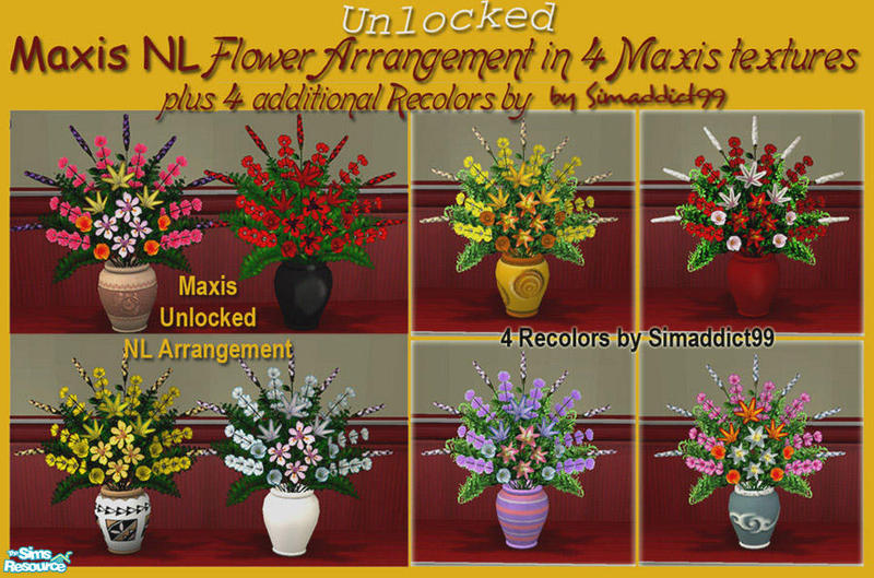 simaddict99 39 s maxis lost found nl flowers. Black Bedroom Furniture Sets. Home Design Ideas