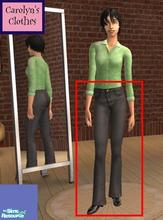Sims 2 — Adult High Waist Black Jeans by heijke — Here is another pair of high-waist denim jeans with black boots. Please