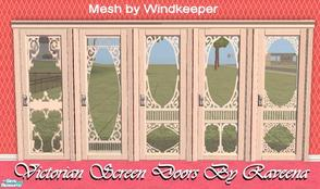 Victorian Screen Doors   Beige