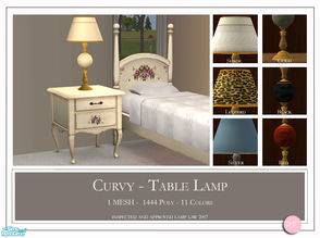 Sims 2 — Curvy Table Lamp by DOT — Curvy Table Lamp. 1 MESH Plus Recolors. Sims 2 by DOT of The Sims Resource. TSR
