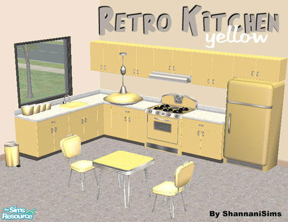 yellow retro kitchens - photo #38