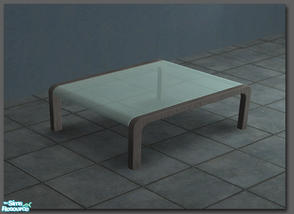 Sims 2 — Modern Glass Coffee Table by Toddfx — Curved glass coffee table suported by metal struts. This table was