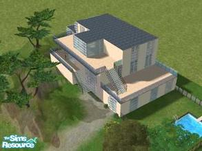Sims 2 — Paradise Villa by Lil-Kiki — This large luxury Villa is perfect 4 a large family who enjoy the modern life. No