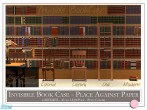 Sims 2 — Invisible Book Cases by DOT — Invisible Book Cases. See jsf wallpaper designs here on TSR. 4 Meshs Plus
