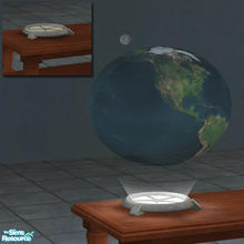 Sims 2 — Holographic Earth and Moon by Toddfx — A holographic projection of the Earth and Moon. Also look for Death Star,