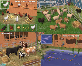 Mod the sims french country farm house.