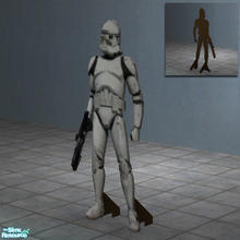Sims 2 — StormTrooper Standup Poster by Toddfx — Lifesize wooden Stormtrooper cutout like what you'd see on display