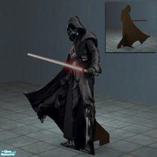 Sims 2 — Darth Vader Standup Poster by Toddfx — Lifesize wooden Darth Vader cutout like what you'd see on display