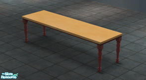 "Sims 2 — Extended ""Talking Table"" by Toddfx — A three tiled version of the Maxis made ""Talking"
