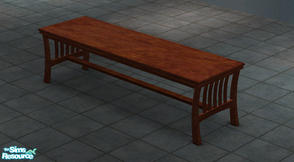 "Sims 2 — Extended ""Luxuria"" Table by Toddfx — A three tiled version of the Maxis created Luxuria mahogany"