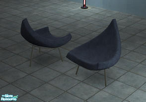 Sims 2 — Modern Triangular Chair by Toddfx — A very modern triangular pie slice chair.