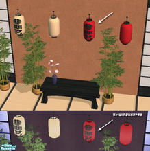 Sims 2 — Japanese paper lantern - red by Windkeeper — Recolor of Japanese paper lantern.