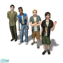 Sims 2 — The Frat House by Moza — <strong>A cleaned up family file for your convenience.</strong><br