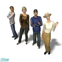 Sims 2 — Viejo Family - Riverblossom Hills by Moza — <strong>A cleaned up family file for your