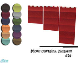 Sims 2 — More Curtains, please! #24 by Sophel21 — uni recolors of mirakes Leyris - Bathroom - Blinds (master mesh). The
