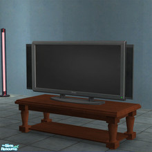 Sims 2 — Panasonic 50'' Plasma TV by Toddfx — 50'' plasma TV placeable on all surfaces: counters, coffee tables, desks,