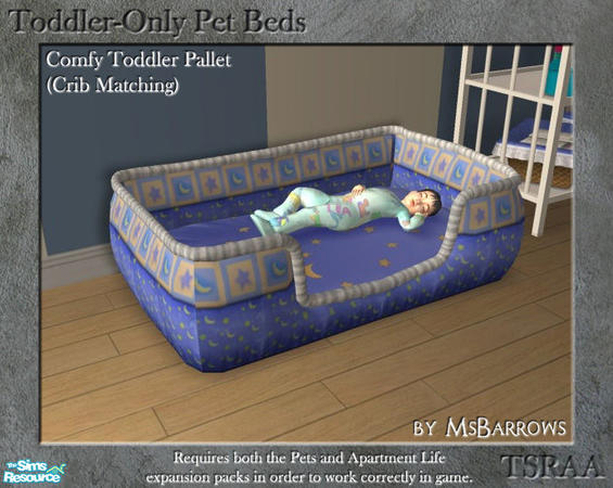 MsBarrows Toddler Only Pet Beds