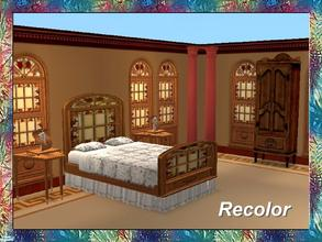 Sims 2 — Stained Art Bedroom-Bed-Dark Frame-Glass by Dgandy — Decorate in style with this Bedroom Set custom made to