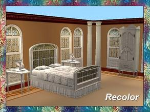 Sims 2 — Stained Art Bedroom-Bed-White Frame-Glas by Dgandy — Decorate in style with this Bedroom Set custom made to