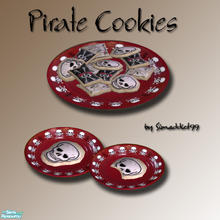 Sims 2 — Pirate Cookies - Set by Simaddict99 — A sweet treat for you\'re little scoundrels. These are also great for