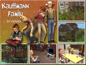Sims 2 — Kauffmann Family by estatica — Jonathan and his family are in debt, but they\'ll overcome this problem if they