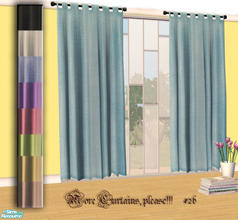 Sims 2 — More Curtains, please! #26 by Sophel21 — uni fabric recolors of the awesome mesh by lirunchik (Delease -