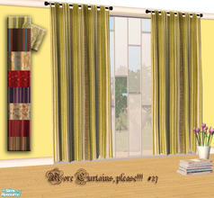 Sims 2 — More Curtains, please! #27 by Sophel21 — patterned fabric recolors of the awesome mesh by lirunchik (Delease -