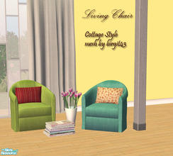 Sims 2 — Cottage Living chair by Sophel21 — Cottage Living chair - colorful fabric colors and different patterned styles