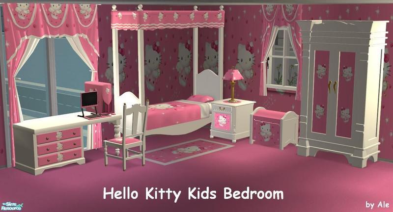Sims 2 Room Sets - 'hello kitty'