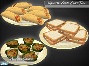 Sims 2 — Vegetarian Food: Lunch Time! by BlackGarden — Ever wondered what you could serve your vegetarian Sims for lunch?