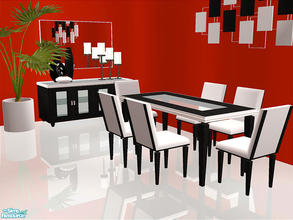 Sims 2 — Blaine Dining by detimgi — New dining room mesh set.Plant by norbi-N
