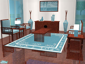 Sims 2 — Melu Living Room by detimgi — New living room mesh set to match the Melu dining room.Includes collection file